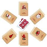 Tarjetas de Navidad 3D, paquete de 12 tarjetas y sobres Tarjetas de felicitación de feliz Navidad Tarjetas de agradecimiento a granel Artesanía hecha a mano para Navidad Cumpleaños festivo