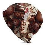 tyui7 Gorro de hámster de Chocolate Dulce, Ligero, Holgado, Holgado, elástico, Turbante para Hombres y Mujeres, Gorro de confinamiento para la Cabeza