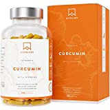 Cúrcuma con Pimienta Negra en Cápsulas 4230 Mg Por Dosis Diaria - 95% Extracto de Cúrcumina - Apoyo natural para las articulaciones y los huesos - Poderoso Antioxidante - Máxima Absorción - 180 Cáps