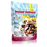 Quamtrax Gourmet Avena Instantánea en polvo, Sabor Chocolate & Avellana- 2000 gr