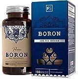 FS Boro 3mg Capsulas | 180 Cápsulas Veganas | Suplemento de Boro | Hecho en el Reino Unido en Instalaciones con Licencia ISO | Sin Gluten, OGM, Alergenos o Lacteos