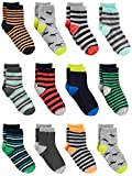 Simple Joys by Carter's Baby and Toddler Boys paquete de 12 calcetines ,Stripe/Dino ,4T/5T