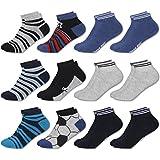 MC.TAM Calcetines de Colores Cortes Para Hombres Niños 12 Pares 90% Algodón Oeko Tex Standard 100, 35-38, 12 pares de cortes para niños