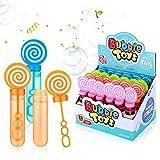 Ucradle Burbujas de Fiesta 24 Piezas Pomperos de jabón Varita de Burbuja Surtidos Pompas Jabon para Favores De Fiesta, Juguetes para Niños Exterior Interior