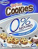 Artiach Mini Cookies - Mini galletas, 0% azúcar, 1 paquete con 4 bolsitas