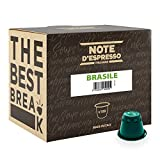 Note D'Espresso Cápsulas de Café de Brasil exclusivamente compatibles con cafeteras Nespresso* 100 Unidades de 5.6 g, Total: 560 g