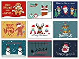 Divertidas tarjetas postales navideñas para Navidad, tarjetas de cómic, tarjetas postales (divertidas, 50)