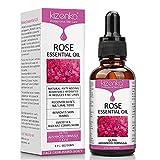 ¡Aceite esencial de rosa, Cuidado de la piel con Vitamina C, Mejorando las Arrugas Antienvejecimiento, Perfecto para Aromaterapia, Relajación, Terapia de la piel y más - NATURAL