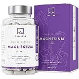 Suplemento de Citrato de Magnesio [ 448 mg ] Vegano de AAVALABS - Alta Dosis de Magnesio Elemental - 180 cápsulas - Puro - Suministro de 1 mes