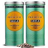 Café Saula grano Premium Ecológico 100% arábica - Pack 2 botes de 500 gr