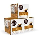 Nescafé DOLCE GUSTO Café ESPRESSO CARAMEL, Pack de 3 x 16 Cápsulas - Total: 48 Cápsulas de Café