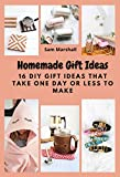 Homemade Gift Ideas: 16 DIY Gift Ideas That Take One Day or Less to Make (English Edition)