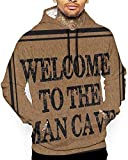 1Zlr2a0IG Welcome to The Man Cave Men's Winter Sweatshirts Long Sleeve Hoodies 3D Print Jumpers S M L XL 2XL