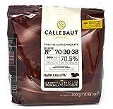 Callebaut N° 70-30-38 (70,5%) - Cobertura de Chocolate Negro Belga - Finest Belgian Dark Chocolate (Callets) 400g