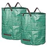 GardenMate 2 Bolsas de Basura de jardín de 272 L   Tejido de Polipropileno (PP) Robusto de 150 g/m2