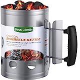 BEAU JARDIN Encendedor de carbón para Barbacoa para encender la Parrilla Arrancador Chimenea Chimenea de 28 x 18 cm Plata Chimenea de Encendido Chimenea de Encendido Parrilla de Barbacoa Encendedor
