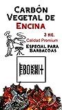 EDURAIT Carbón Vegetal Ecologico de Encina, para Barbacoas, Procedente de la Poda de Dehesas, Especial Barbacoas y Restaurantes. (Carbon 3 Kg)