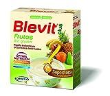 Blevit Plus Superfibra Frutas - Papilla de Cereales para Bebé Con Arroz Integral y Pulpa de Frutas Frescas - Sin Gluten y Sin Azúcares Añadidos - Desde los 4 meses - 600g