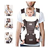 SIMBR Mochila Portabebés Multifuncional 12 en 1, Portabebés Ergonómico con Asiento para bebés de 3-36 Meses, Cinturón Ajustable y 3D tejido de red, Carga Máx 20 kg, Puro Algotón 100%