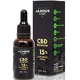Auténtico CBD Oil 15% | Aceite de Cañamo Bio enriquecido con 15% CBD | 30ml - 1200 gotas Aceite CBD Premium | Hemp Oil con 4500mg de Cannabidiol | 0% THC