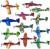 48 Planeadores Voladores de Aviones de Papel  Fácil de Montar, Resistente y Ligero  Avión Juguetes para Niños Cumpleaños, Premios Juego Halloween Navidad Bolsas Fiesta Sorpresas Regalo Infantiles.