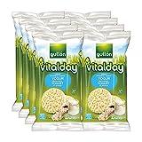 Gullón - Tortitas Arroz integral y yogur Vitalday, 1.000 g, Pack de 8