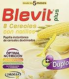 Blevit Plus Duplo 8 Cereales con Natilla, 1 unidad 600 gr. A partir de los 5 meses.