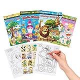 THE TWIDDLERS 24 Mini Libros para Colorear con Pegatinas para Piñatas, Regalos