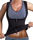 Bingrong Chaleco Neopreno Sauna Mujer Fajas Reductoras Mujer Compresion Sudoración para Deporte Fitness